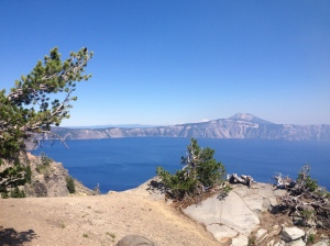 A view from the top of Crater Lake